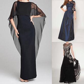 落ち着いた色のドレス