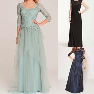 フレアタイプのドレス