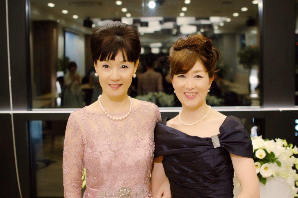 コンラッド東京での結婚式 W(ダブル)マザー新郎・新婦の母がダブルでフォーマルドレス