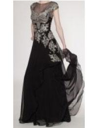 結婚式の新郎の母の服装|セントグレース大聖堂 |フォーマルドレスL-57