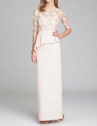 結婚式の新婦の母の服装|軽井沢高原教会|フォーマルドレスL-65