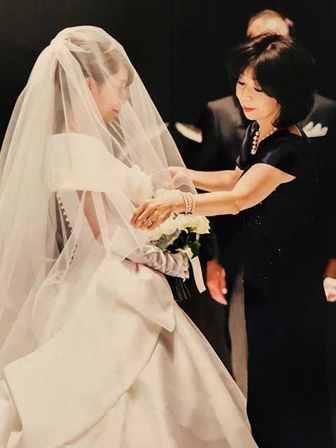 結婚式当日の着用イメージ