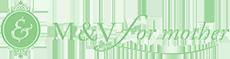 logo | 結婚式の母親ドレス M&V for mother