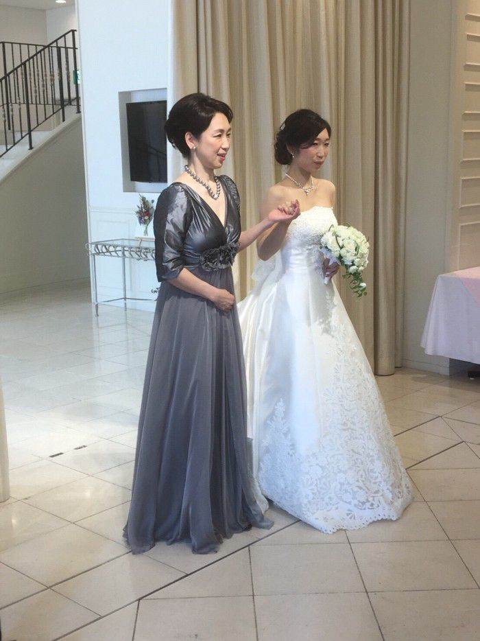 「お母様も素敵!」とドレス姿を絶賛されて至福の時間を過ごせました