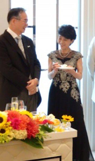 新郎の母、フォーマルドレスの装い、アンジェリオン オ プラザ仙台にて