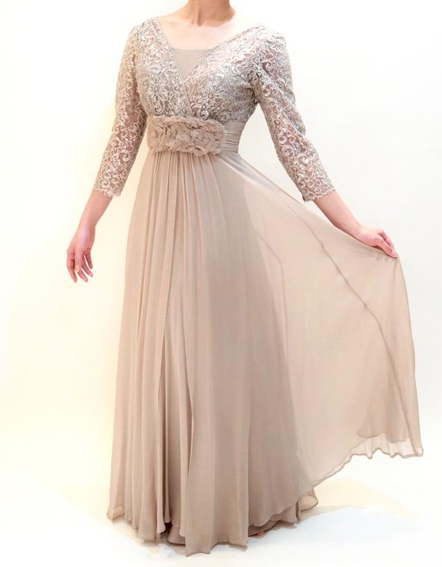 M&V for mother L13h 結婚式の母親ドレス・フォーマルドレスのレンタル