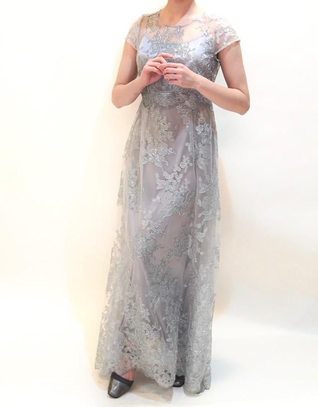 M&V for mother L48k 結婚式の母親ドレス・フォーマルドレスのレンタル