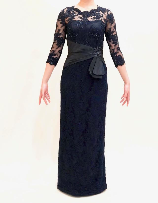 結婚式の新婦の母の衣装|フォーマルドレスL-53| 結婚式の母親ドレス M&V for mother