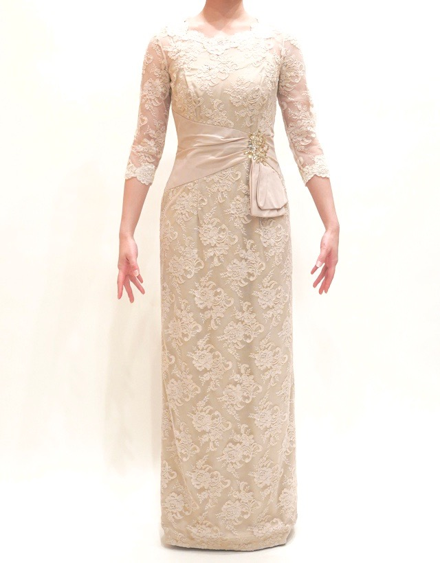 M&V for mother L54c 結婚式の母親ドレス・フォーマルドレスのレンタル