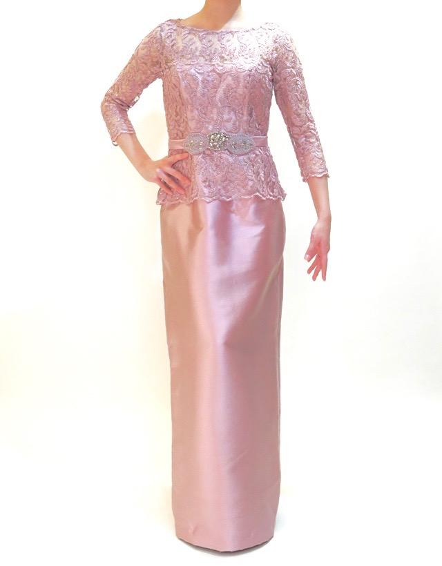 結婚式の新婦の母の衣装|オリエンタルホテルHIROSHIMA|フォーマルドレスL-63