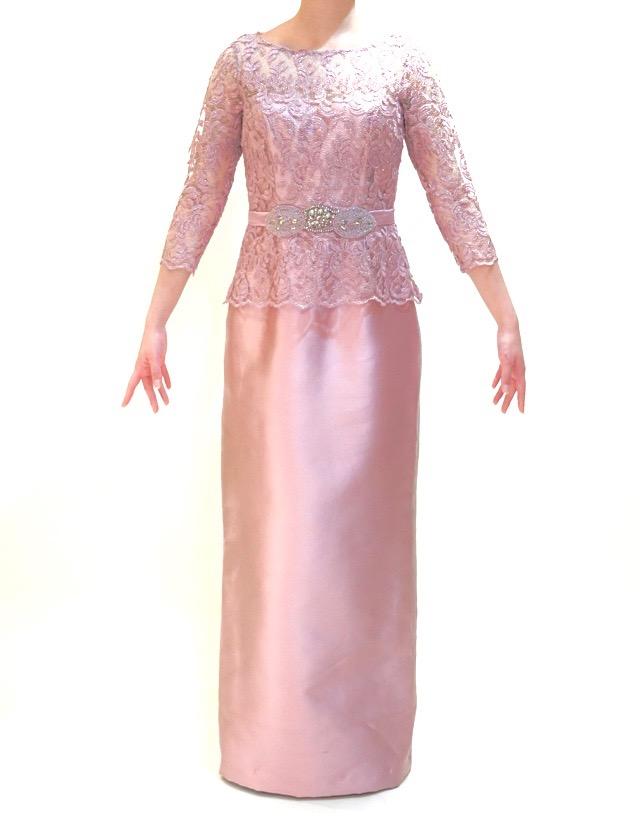 M&V for mother L63b 結婚式の母親ドレス・フォーマルドレスのレンタル
