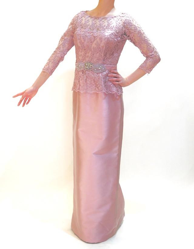 M&V for mother L63l 結婚式の母親ドレス・フォーマルドレスのレンタル