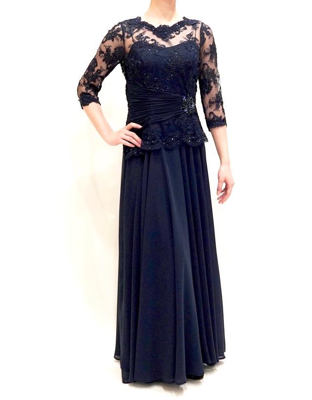 結婚式の新婦の母の衣装|旧桜宮公会堂|フォーマルドレスL-64| 結婚式の母親ドレス M&V for mother