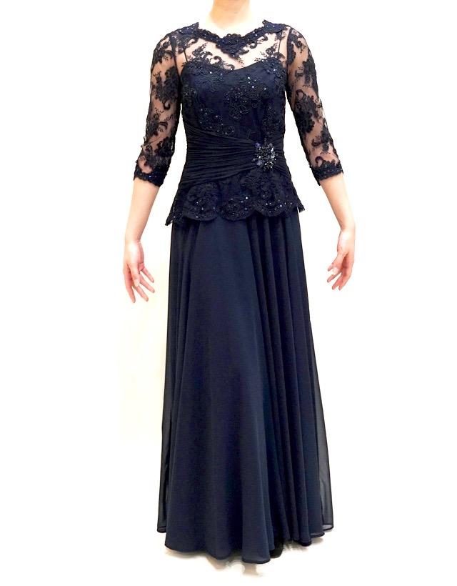 結婚式の新婦の母の服装|帝国ホテル|フォーマルドレスL-64
