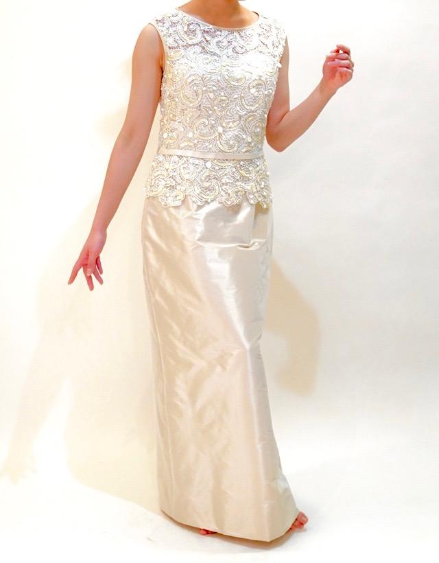 M&V for mother L68l 結婚式の母親ドレス・フォーマルドレスのレンタル