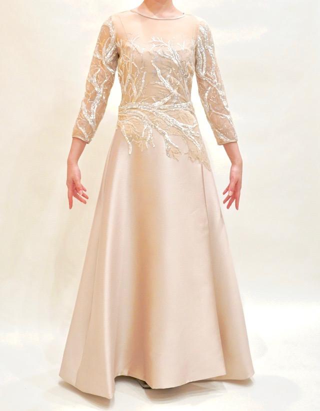 M&V for mother L89b 結婚式の母親ドレス・フォーマルドレスのレンタル