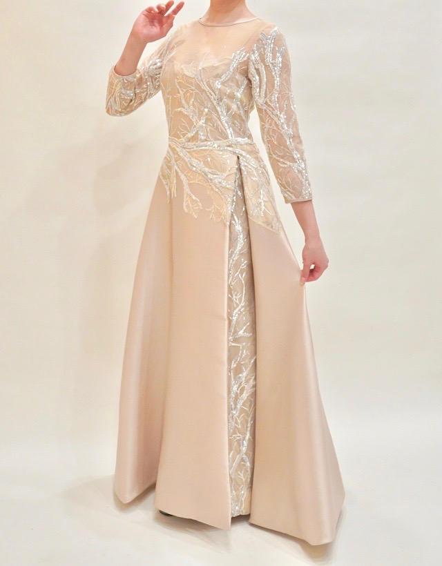 M&V for mother L89h 結婚式の母親ドレス・フォーマルドレスのレンタル