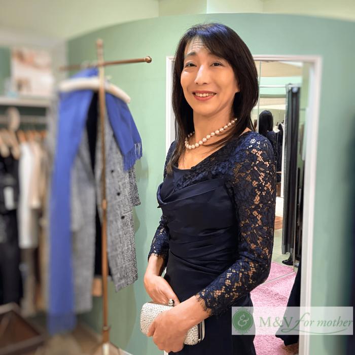 【結婚式母親の高級ドレス】身長165cm以上スラリ長身の魅力が光るブライダルマザードレス