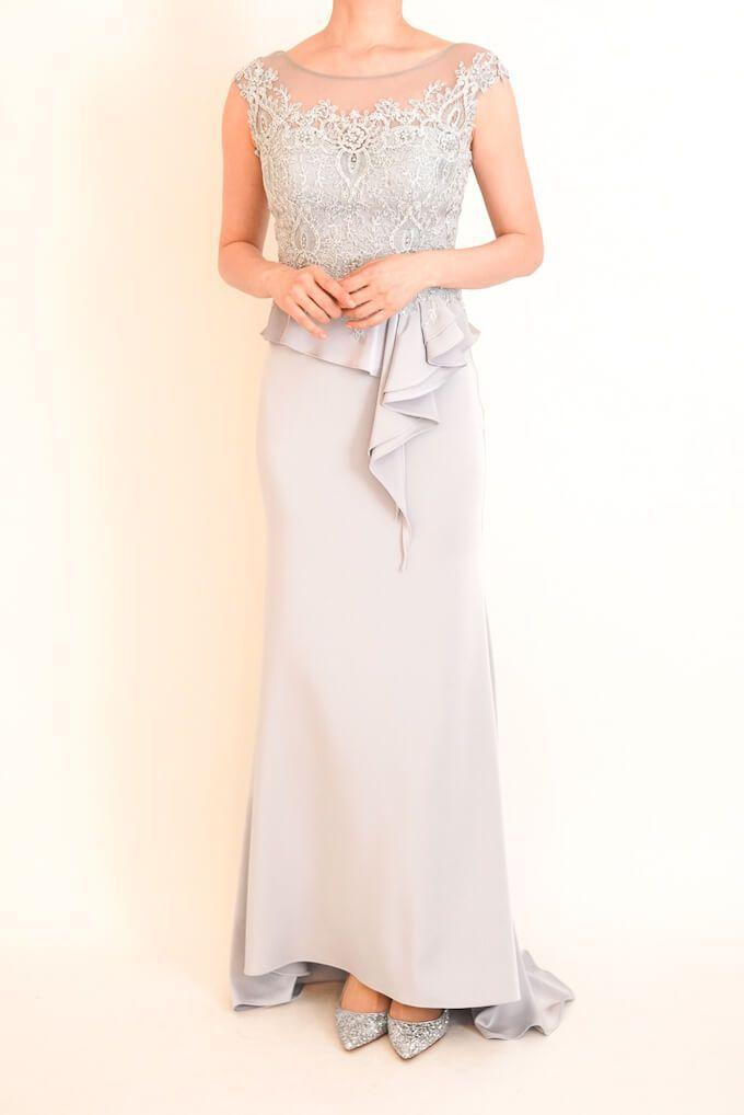 M&V for mother l95a 結婚式の母親ドレス・フォーマルドレスのレンタル