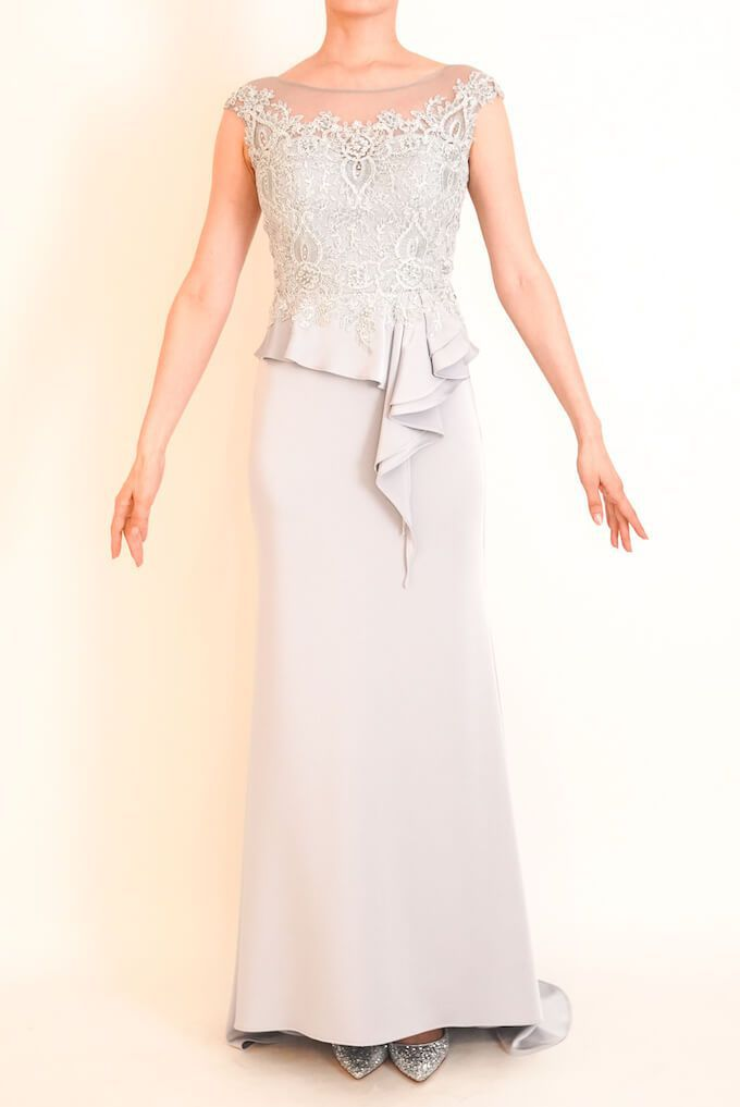 M&V for mother l95f 結婚式の母親ドレス・フォーマルドレスのレンタル